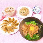 ♡ 今日の夜ごはん ♡ ㅤㅤㅤㅤㅤㅤㅤㅤㅤㅤㅤㅤㅤㅤㅤㅤㅤㅤㅤ❁まぜそば❁餃子❁中華スープ❁小松菜チャーハン❁ミルクプリンㅤㅤㅤㅤㅤㅤㅤㅤㅤㅤㅤㅤㅤㅤㅤㅤㅤㅤㅤ…のInstagram画像