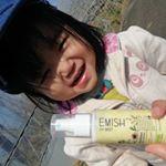 @emish_official さんから頂いたスプレー式の日焼け止め☀️パッケージもかわいいし🙆サイズ感もちょうど良いし🙆子供にも良いから顔意外はスプレーで1吹きめっちゃ楽🧡…のInstagram画像