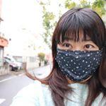 黒くておしゃれな布マスク。ふらはのマスクです。花粉対策のため着けてます。今日みたいな雨で寒い日は冷気対策。#ふらはマスク #マスク美人コンテスト #ホワイトビューティー…のInstagram画像