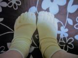 シルクと綿の良いとこ取り♪「シルクを綿で守る5本指靴下の画像(4枚目)