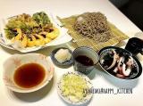 春の味覚!ふきのとうの天ぷらとざる蕎麦の献立レシピの画像(1枚目)