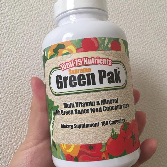 口コミ投稿:グリーンパック。グリーンパックは、サプリメント先進国であるアメリカで作られたマ…