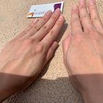 iGS4000Gelを片方の手にだけぬってみたよ!片方だけ、お肌が潤ってツヤツヤしてます!さぁ、どっちの手に塗ったかわかるかな?国立大学にて国内外の超高級クリームと比較し①UVによ…のInstagram画像