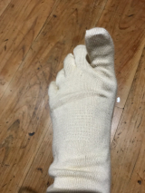 シルクを綿で守る5本指靴下の画像(5枚目)