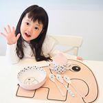 .@donebydeer_japan さんの離乳食はじめてセット❤︎.ボウル、スパウトスプーン、マットの豪華セット✨..デザインも可愛くてナチュラルな感じが素敵すぎ…のInstagram画像