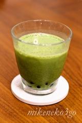 玉露園 濃いグリーンティー でタピオカ抹茶ミルクの画像(2枚目)