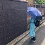 朝さんぽ🌱日傘で紫外線対策も☀️最近外出時手放せないのが、ホワイトビューティーの日傘✨UVカット遮光率なんと99%以上!かなりのカット率で軽く 綺麗なシルエット🧡しかも、晴雨兼用な…のInstagram画像