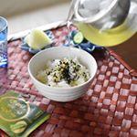 📌ひんやりお茶漬けわさび味のお茶漬けの素を使った、冷たいお茶漬け。海苔とわさびの香りが、食欲をそそります。あられがサクサクと歯触りよしで、これから夏の食卓に出番が多くなる一椀で…のInstagram画像