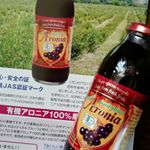 有機アロニア100%果汁!アロニアって初めて知ったけど、知ってびっくりしました!ポリフェノールが他の果物とは桁違い。ポリフェノールで健康やキレイな体づくりを期待したいです♪ヨーグルトやスム…のInstagram画像
