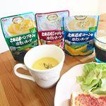 ..SSK 冷たいスープ🍽北海道産コーン🌽、ジャガイモ🥔、パンプキン🎃.冷蔵庫で冷やしてそのままいただけます🥣主原料の野菜は国産限定!原料にこだわっているとのこと。化学…のInstagram画像