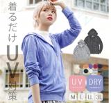 イーザッカマニアストアーズ 着るだけUV対策パーカー M~3L 色柄選べる プチプラコーデ 春夏の画像(1枚目)