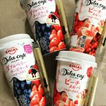 Dolce cafe ダブルベリーチーズケーキ とピーチメルバ。スイーツを食べているような満足感と贅沢感❤どっちの味もおいしい!! #ドルチェカフェ #ほっとひといき #ちょっと休憩 #mon…のInstagram画像