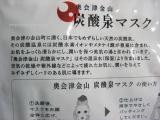 炭酸泉のパワーをぎゅっと濃縮:奥会津金山 炭酸泉マスクの画像(2枚目)