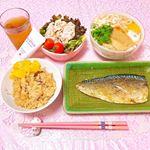 ♡ 今日の夜ごはん ♡ ㅤㅤㅤㅤㅤㅤㅤㅤㅤㅤㅤㅤㅤㅤㅤㅤㅤㅤㅤ❁炊き込みご飯❁きつねうどん❁冷しゃぶサラダ❁鯖ㅤㅤㅤㅤㅤㅤㅤㅤㅤㅤㅤㅤㅤㅤㅤㅤㅤㅤㅤㅤㅤㅤㅤㅤㅤㅤ…のInstagram画像