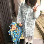 2019.06.07 Fri.*「あめ、こんこん☔」*なぜかりゅうたは雨の日は、あめこんこんと、言います☔*雨の日の今日は、一緒にレインコートを着て、少しだけカエルを探しにお散…のInstagram画像