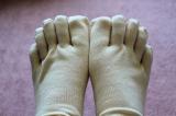 シルクを綿で守る5本指靴下の画像(3枚目)