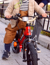ペダルくるくるが難しい?娘、自転車の練習中!の画像(10枚目)
