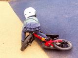 ペダルくるくるが難しい?娘、自転車の練習中!の画像(8枚目)