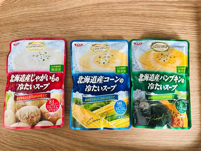 口コミ投稿:夏にとっても嬉しい冷たいスープを食べました〜💕 SSKの北海道産の冷たいスープです💕 …