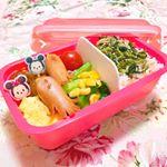 ♡ 今日のお弁当 ♡ ㅤㅤㅤㅤㅤㅤㅤㅤㅤㅤㅤㅤㅤ ㅤㅤㅤㅤㅤㅤㅤㅤㅤㅤㅤㅤㅤ ❁高菜ちりめんごはん❁卵焼き❁たこさんウインナー❁ミニトマト❁ミートボール❁小松菜…のInstagram画像