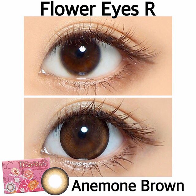 口コミ投稿:フラワーアイズRアネモネブラウン(@flowereyes.info ).( 'ω'o[ 直径14.5mm 直径直径1…