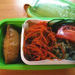 小森樹脂さんのセパレートランチボックスでお稲荷さんのお出かけ弁当😉盛れる2段ランチボックス✨1段目にはお稲荷さん2段目には自家製キャロットラペ、キヌアサラダなどのお野菜を😋…のInstagram画像