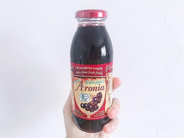 口コミ投稿:お試し✌︎✌︎.ブルーベリーの5倍のポリフェノールが入ってるアロニア果汁を飲んでみた…