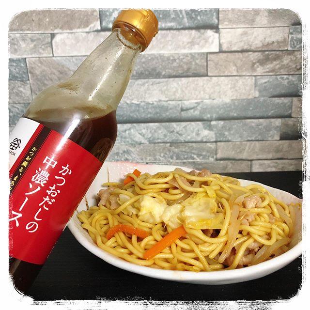 口コミ投稿:꙳✧˖°⌖꙳✧˖°⌖꙳✧˖°⌖꙳✧˖°⌖꙳✧˖°⌖꙳✧˖鎌田醤油さんのかつおだしの中濃ソースを使って焼き…