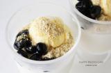 ひんやり和スィーツ*豆乳ゼリー 黒豆とバニラアイス添えの画像(1枚目)