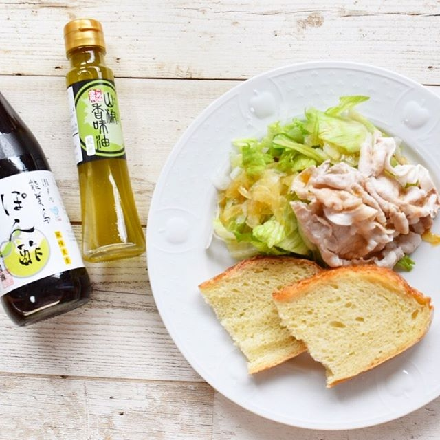 口コミ投稿:2019.6.28#築野食品 の #山椒香味油 と #濱口醤油 さんの #能美島ぽん酢 を使って、…