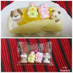 アニマルドールでケーキを手作りしました💓食べるのがもったいないですが、楽しみながら食べます😳💕東京の小金井市にあるアートキャンディはケーキに飾って食べても安心なお砂糖で作られた人形 「メレンゲドール」…のInstagram画像