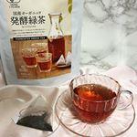 国産オーガニック  発酵緑茶 緑茶を普段から飲みますが発酵緑茶は初めてなのでとても興味がありました👀👀✨茶葉も緑ではなく紅茶みたいで、香りは少し漢方みたいと思いながら、ティーバ…のInstagram画像