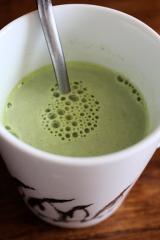 濃いグリーンティーでアイスグリーンミルクティーを作ってみたの画像(5枚目)