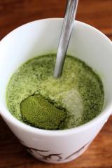 濃いグリーンティーでアイスグリーンミルクティーを作ってみたの画像(4枚目)