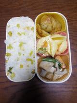 ある日のお弁当(鶏肉と根菜類の炒め物)の画像(1枚目)
