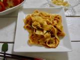 「爽やかな辛さ マルハニチロ汁なし担々刀削麺」の画像(10枚目)