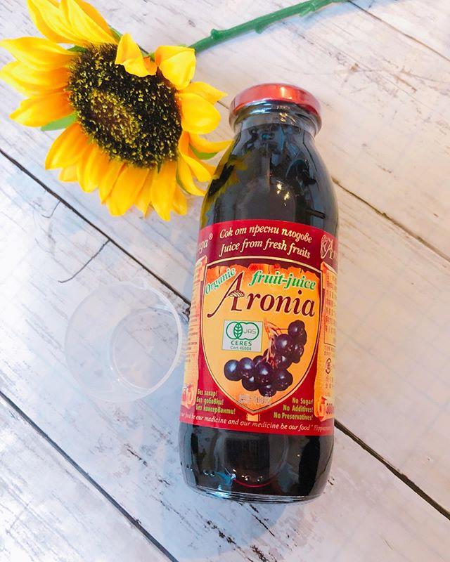 口コミ投稿:ポリフェノールがブルーベリーの5倍という#ブルガリア産 有機アロニア 100%果汁を飲…