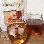 国産オーガニック発酵緑茶♡緑茶と言ったら緑のイメージですがこれは普通のお茶のような色!!味はどんな料理でも一緒に飲めるくらい飲みやすくて美味しい(*´˘`*)♡ 食事中に飲むと脂肪吸収のブ…のInstagram画像