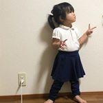 子供フレアスカッツレギンス付スカートを紹介します。90から140と10きざみで、サイズ展開。95か100を普段着ていますが、子供の成長は早いのでサイズ110です。せっかくの女の子なので、スカー…のInstagram画像