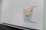「★口と足で描く芸術家協会 口で描いた女子大好きスイーツの絵の付せんセット★」の画像(7枚目)