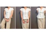 プチプラファッションサイト、titivate(ティティベイト)のノースリーブペプラムブラウスを着てみました!の画像(2枚目)