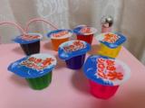 夏のひんやりカラフルデザート作り♡レインボーかき氷、カラフルゼリー、杏仁豆腐!の画像(5枚目)