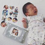 ⋆息子たちの写真を@minnano_seal でシールにしたよ☺️💞⋆アプリでできるからめちゃ簡単☺️👍頼んで次の日には届いてた〜☺️⋆⋆⋆早速おしりふきケースのフタに…のInstagram画像