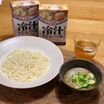 「麺で美味しい食卓  冷汁うどんつゆ」で美味しい冷汁うどんをいただきました🍜..冷汁うどんは初めてでしたが正田醤油さんのこちらはとにかくとっても簡単に作れて美味しい…のInstagram画像