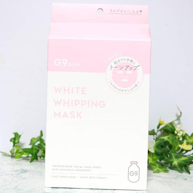 口コミ投稿:GRからG9 SKIN WHITE WHIPPING MASKが届きました♥.牛乳タンパク質と18種類の美容成分…