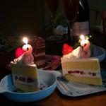 昨日33歳になりました!家で家族にHappyBirthdayを歌って貰った♡お祝いのメールくれた人もありがとー♡ケーキ食べたりドーナツ食べたり。。。デブ活(笑)モニターで当…のInstagram画像