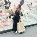 ____#きのコあたらしいカバンが届いたよ♡apolisjapan のカスタマイズバッグサイズもいろいろあってこの麻素材大好きー★中はビニールでしっかりしてて崩…のInstagram画像