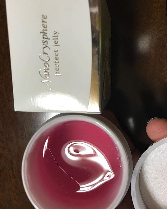 口コミ投稿:ナノクリスフェアパーフェクトジェリージェル状美容液  50g手に取ったすぐはゼリーの…
