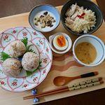 #モニプラ #ごと㈱ のごといもポタージュ  #モニター 2度目のアップです😀お題は、#朝食 🍴今日は #和朝食 に合わせました。1パックを2人で分けて、カラフルペパーをパラリと。少し…のInstagram画像