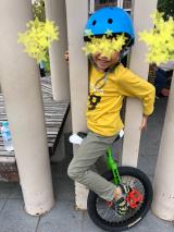 「あれから1か月。地道に練習中!ニンジャウィール(一輪車)で、忍者(エクストリーム)にトライ!」の画像(6枚目)